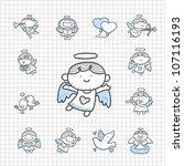 spotless series   hand drawn... | Shutterstock .eps vector #107116193