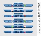world cup russia 2018. match... | Shutterstock .eps vector #1071162083
