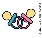 baby pacifiers isolated icon   Shutterstock .eps vector #1071165083