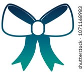 bow ribbon isolated icon | Shutterstock .eps vector #1071168983