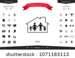 family home icon | Shutterstock .eps vector #1071183113