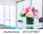 reception interior with... | Shutterstock . vector #1071197807