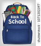 student bag with study object... | Shutterstock .eps vector #1071202397