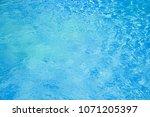 blue clear water. sea  pool ... | Shutterstock . vector #1071205397