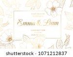 wedding mariage event... | Shutterstock .eps vector #1071212837