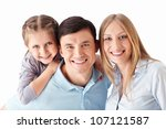 families on a white background | Shutterstock . vector #107121587