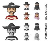 a mexican  a jew  a woman from... | Shutterstock .eps vector #1071220637