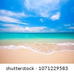 beach and tropical sea | Shutterstock . vector #1071229583