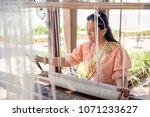 women wear thailand national...   Shutterstock . vector #1071233627