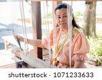 women wear thailand national...   Shutterstock . vector #1071233633
