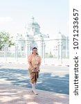 women wear thailand national...   Shutterstock . vector #1071233657