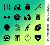 vector icon set about fitness... | Shutterstock .eps vector #1071238283