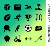 vector icon set about fitness... | Shutterstock .eps vector #1071238307