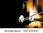 cello classical music... | Shutterstock . vector #107125337