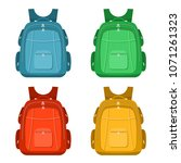 color image of a backpacks on a ... | Shutterstock .eps vector #1071261323