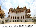 buidling of wat phra kaew ... | Shutterstock . vector #1071263933