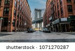 manhattan bridge through the... | Shutterstock . vector #1071270287
