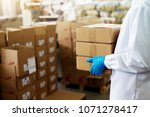 close up picture of a worker in ... | Shutterstock . vector #1071278417