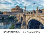 castle sant' angelo in rome | Shutterstock . vector #1071293447