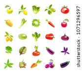 sets of vegetables and fruits....   Shutterstock .eps vector #1071296597