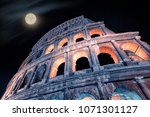 the colosseum in rome  italy | Shutterstock . vector #1071301127