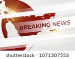 live news gray background with...   Shutterstock .eps vector #1071307553