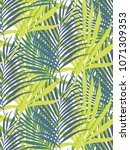 seamless pattern of tropical... | Shutterstock .eps vector #1071309353