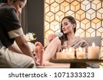 professional wellness therapist ... | Shutterstock . vector #1071333323