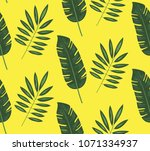 seamless pattern of tropical... | Shutterstock .eps vector #1071334937