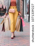 cropped image of woman carrying ... | Shutterstock . vector #1071339227