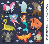 mythological animal vector... | Shutterstock .eps vector #1071340937