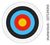 archery target. vector. | Shutterstock .eps vector #107134343