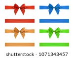 bow and ribbon isolated on... | Shutterstock .eps vector #1071343457