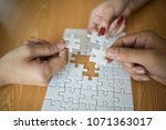 man hands connecting couple... | Shutterstock . vector #1071363017