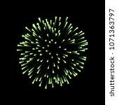 firework green sparkle isolated ... | Shutterstock .eps vector #1071363797
