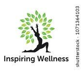 wellness logo design | Shutterstock .eps vector #1071364103