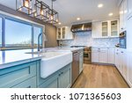 beautiful kitchen room with... | Shutterstock . vector #1071365603