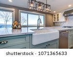 beautiful kitchen room with... | Shutterstock . vector #1071365633