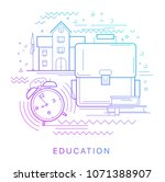 knowledge day. modern flat... | Shutterstock .eps vector #1071388907