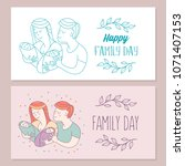 happy family. family day. ... | Shutterstock .eps vector #1071407153