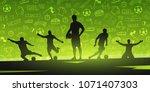 football or soccer design... | Shutterstock .eps vector #1071407303