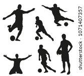 a set of vector set of football ... | Shutterstock .eps vector #1071407357