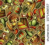cartoon hand drawn latin... | Shutterstock .eps vector #1071408557