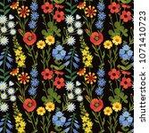 vector seamless floral pattern. ... | Shutterstock .eps vector #1071410723