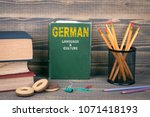 german language and culture... | Shutterstock . vector #1071418193