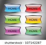 home button | Shutterstock .eps vector #107142287