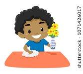 vector illustration of kid boy... | Shutterstock .eps vector #1071426017