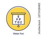 vision related offset style... | Shutterstock .eps vector #1071428483