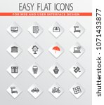 post service flat icons set for ... | Shutterstock .eps vector #1071433877