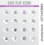 post service flat icons set for ... | Shutterstock .eps vector #1071433883